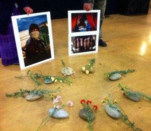 Hommage aux Migrants morts sur la frontière franco-italienne Photos de Ben Art Core (2)